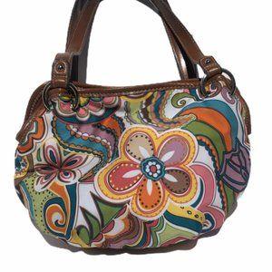 Floral Shoulder Bag Hippie Boho Faux Leather Purse